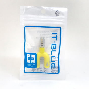Adaptador P3/P2 para Fone e Microfone Headset IT - BLUE