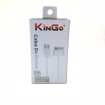 Cabo de Dados Iphone 4/4S e I-pad 2/3 1 Metro KinGo