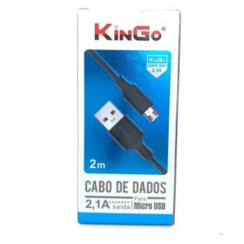Cabo de Dados Micro USB 2 Metros KinGo