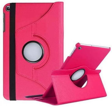Kit Capa Giratória Rosa Tablet Samsung Galaxy Tab A7 T500/T505  + Pélicula de Vidro 10.4 (2020).