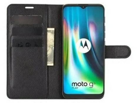 Capa Carteira  Antishock Porta Cartão P/ Motorola Moto G9 Play