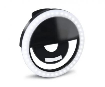 Ring Light Clipe Luz Selfie Flash P Celular/ Tablet Notebook